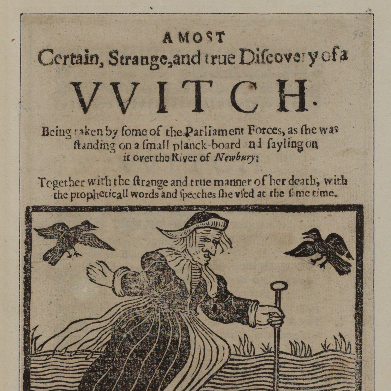 Portada de A most Certain, Strange, and true Discovery of a VVitch, imprés per John Hammond, 1643